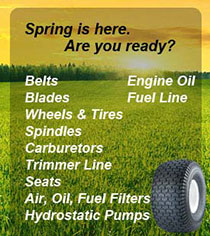 spring is here,tractor parts prepared